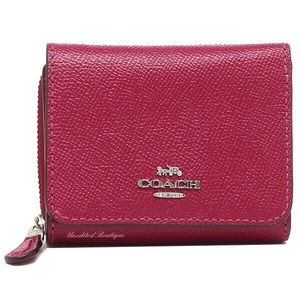 COACH Medium Zip Wallet In Crossgrain Leather